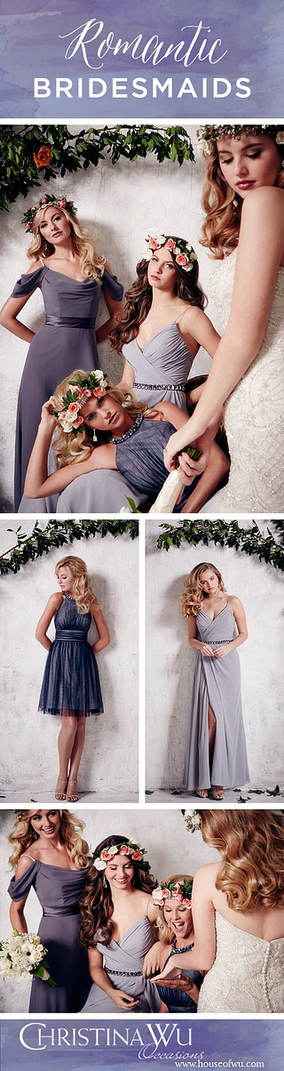 A stunning assortment of bridesmaid dresses from