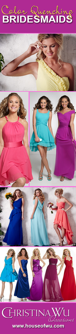 Drench your big day in bold and bright colors.