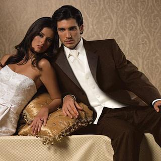 Chocolate Parisian tuxedo at Spotlight Formal Wear