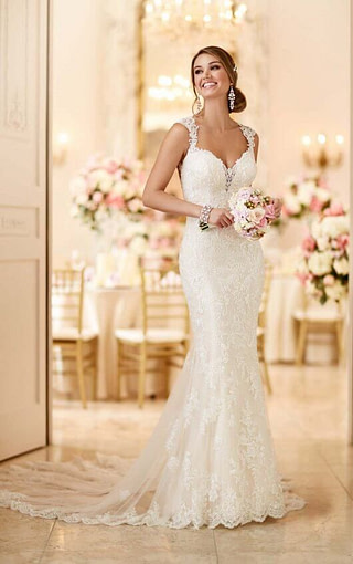 Just look at this beautiful lace mermaid gown! Available at Spotlight Formal Wear! #SpotlightBridal