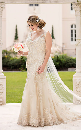 Gorgeous plus size fit n flare available at Spotlight Formal Wear! #SpotlightBridal