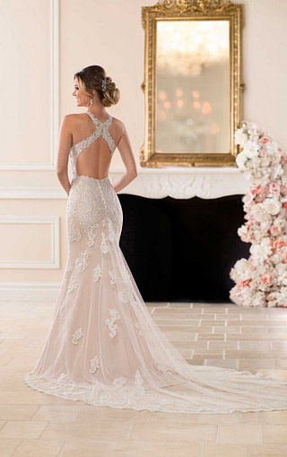Check out the criss-cross back! Available at Spotlight Formal Wear! #SpotlightBridal